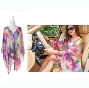 NEW Vibrant Printed Cover-up/Scarf